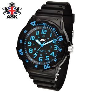 [正品][ASK] SK300KB 디지털 우레탄밴드 남성용 시계