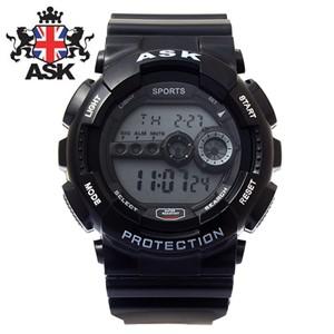 [ASK] 에스크 SK279-BLACK ASK 정품 디지털 블랙 우레탄밴드 남녀공용시계