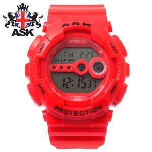 [ASK] 에스크 SK279-RED ASK 정품 디지털 레드 우레탄밴드 남녀공용시계