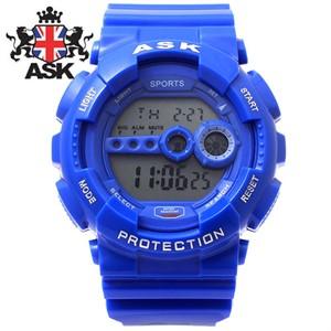 [ASK] 에스크 SK279-BLUE ASK 정품 디지털 블루 우레탄밴드 남녀공용시계