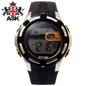 [ASK] 에스크 SK197-ORANGE 디지털 우레탄밴드 남녀공용 시계