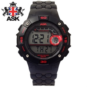 [ASK] 에스크SK236-RED ASK 디지털 우레탄밴드 남녀공용 시계