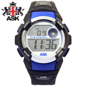 [ASK] 에스크 SK256-BLUE ASK 디지털 우레탄밴드 남녀공용 시계