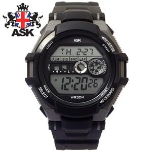 [ASK] 에스크 SK280-BLACK ASK 디지털 우레탄밴드 남녀공용 시계