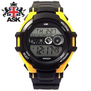 [ASK] 에스크 SK280-YELLOW ASK 디지털 우레탄밴드 남녀공용 시계