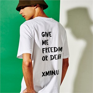 [엑스마이너스] GIVE ME FREEDOM PRINT TSHIRT WHITE