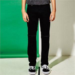 [엑스마이너스] BLACK DAMAGE PANTS