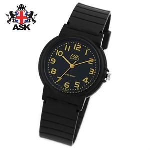 [正品][ASK] SK274KK 에스크 정품 블랙다이얼 블랙우레탄밴드 아날로그시계