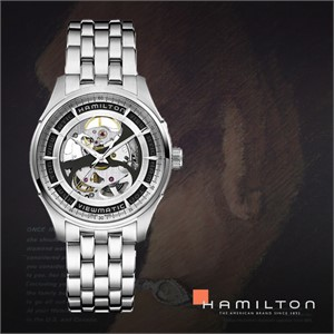 HAMILTON 해밀턴 H42555151 남성 메탈밴드 패션시계