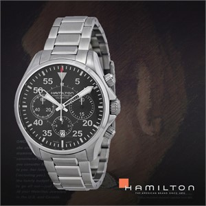 HAMILTON 해밀턴 H64666135 남성 메탈밴드 패션시계