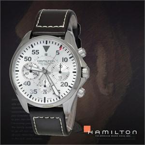 HAMILTON 해밀턴 H64666555 남성 가죽밴드 패션시계