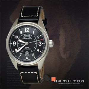 HAMILTON 해밀턴 H70505733 남성 가죽밴드 패션시계