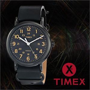 TIMEX 타이맥스 T2P494 남녀공용 가죽밴드 패션시계