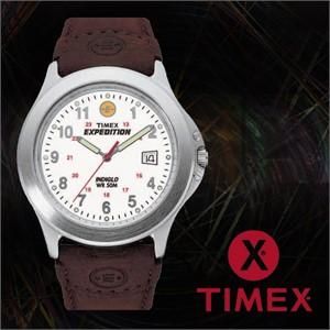 TIMEX 타이맥스 T44381 남성 가죽밴드 패션시계