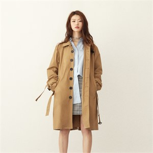 [srst]  Cotton trench coat (Beige)