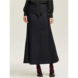 까이에 Button Detail Maxi Skirt