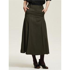 까이에 Side Pleated Maxi Skirt