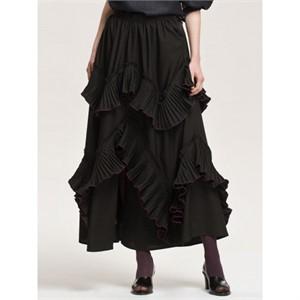 까이에 Ruffled Crinkled Skirt