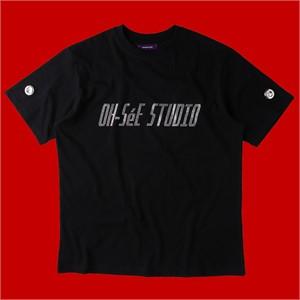 [테뉴] O.S.S GLITTER T-SHIRTS-BLACK
