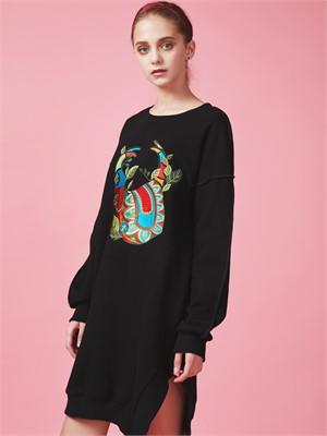 [아브라함케이한글] stag beetle  Sweat long shirt