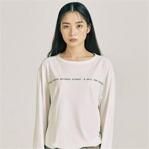 [프롬더예스터데이]핑거 홀 롱 슬리브 시셔츠 화이트