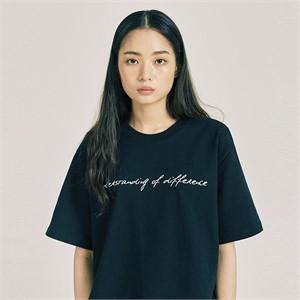 [프롬더예스터데이]언더스탠딩 하프 티셔츠 블랙