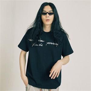 [프롬더예스터데이]하프&하프 티셔츠 블랙