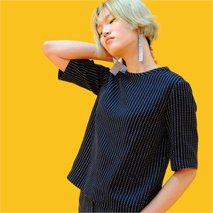 [쎄쎄쎄] 스트라이프반팔블라우스 / stripe blouse
