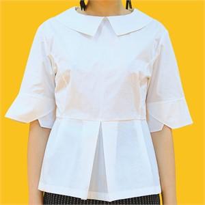 [쎄쎄쎄] 쪽지 칼라 블라우스 / collar detail blouse