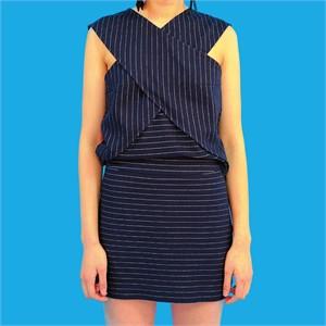 [쎄쎄쎄] 스트라이프 져지 스커트 / stripe jersey skirt