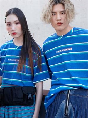 [곽현주컬렉션] [젯콜리코] BLUE STRIPE T-SHIRTS