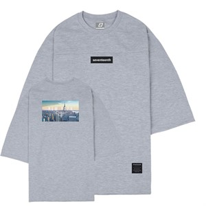 CITY VIEW NEW YORK 7CUT SWEATSHIRTS-MELANGE