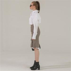 [브로우엔드] OVER FIT BUTTON SHIRT DRESS - WHITE