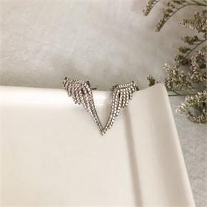 천사 큐빅 귀걸이