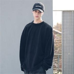 [매스노운] 소프트울 사이드벤트 맨투맨 MFECR006-BK