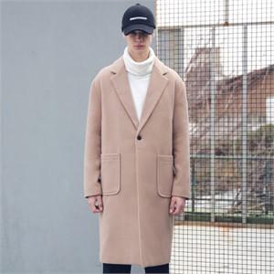 [매스노운] 드롭 숄더 오버핏 싱글 코트 MFECT002-CM