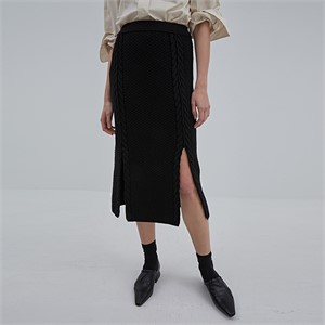 [디와이에스] CURTAIN SKIRT BLACK