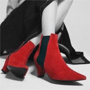 [꼼므지] E-Band Ankle Boots / CG1028RD