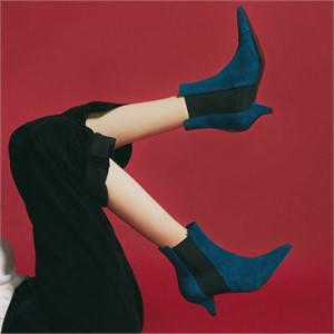 [꼼므지] E-Band Ankle Boots / CG1028BL