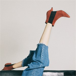 [꼼므지] E-Band Ankle Boots / CG1028BR