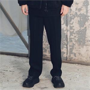 [매스노운] 와이드 헤링본 울 슬랙스 MFETT003-BK