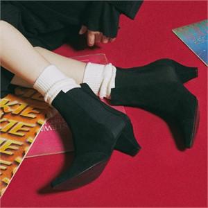 [꼼므지] E-Band Ankle Boots / CG1028BK