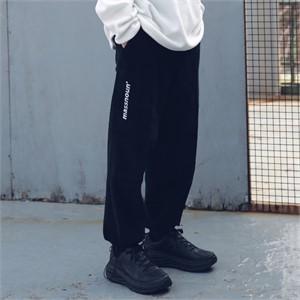 [매스노운] SL로고 포켓 코듀로이 팬츠 MFECP003-BK
