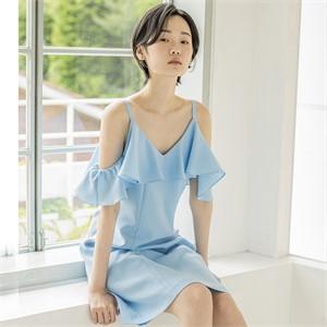 [블리다] icyblue offshouler dress