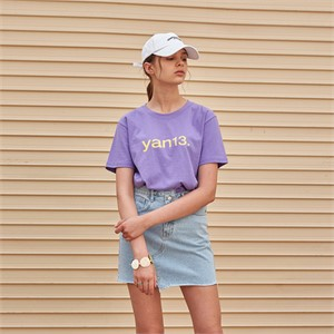[YAN13] THIRTEEN HALF T-SHIRTS_PURPLE
