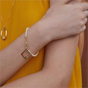 마티아스[] Diamond pearl Bacelet - Gold
