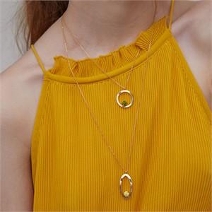 마티아스[] Round candy Necklace - Gold