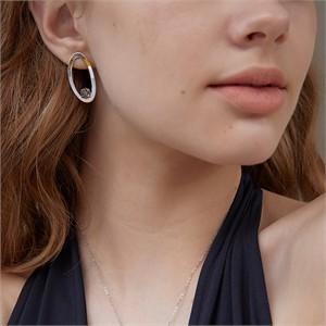 마티아스[] Oval candy Earring - Silver