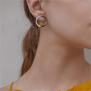 마티아스[] Round candy Earring - Silver