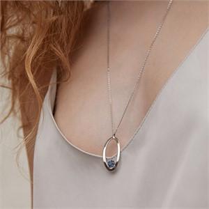 마티아스[] Oval candy Necklace - Silver